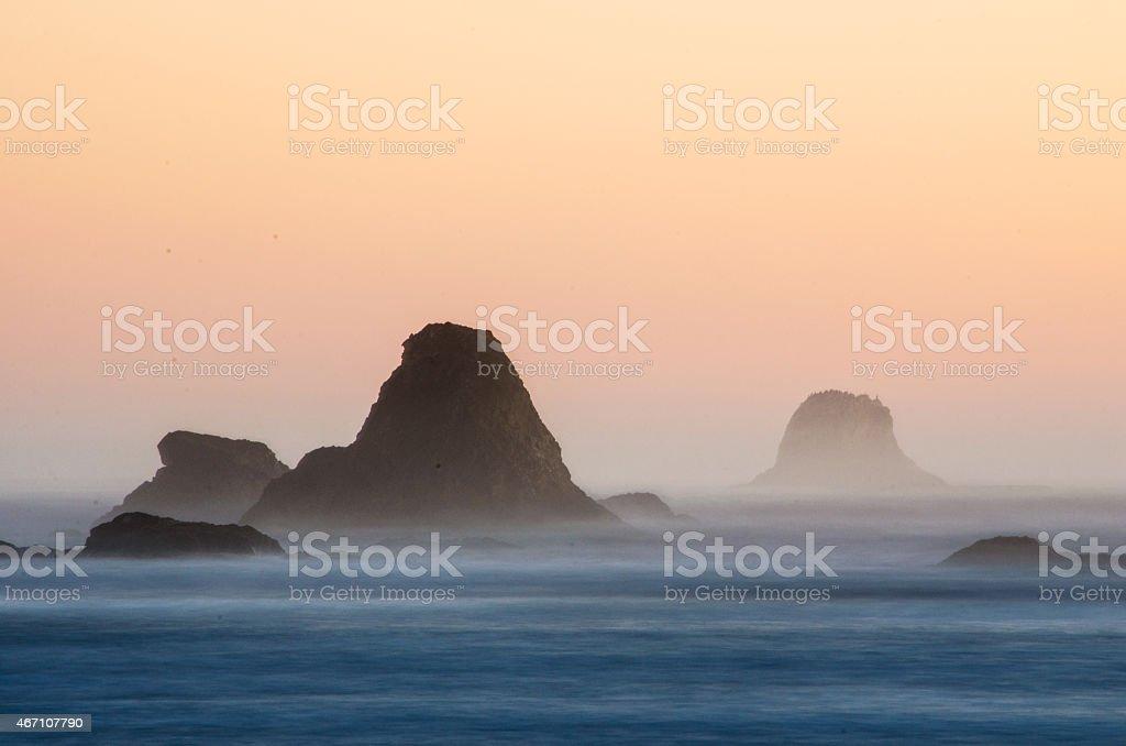 Olympic National Seashore Sunset stock photo
