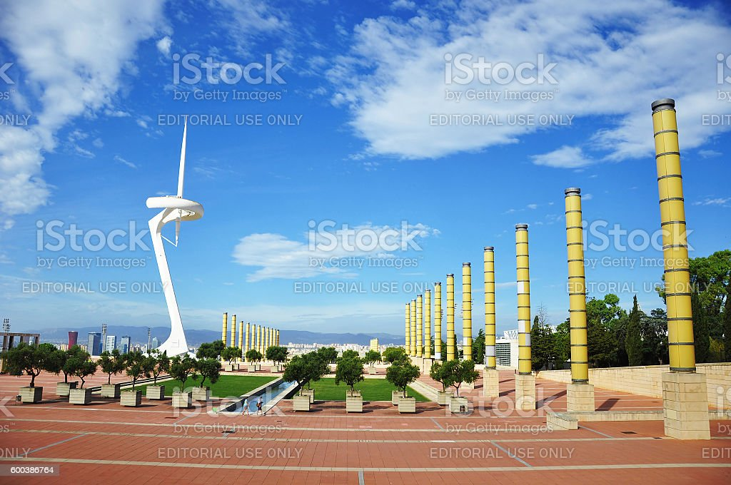 Olympic park in Barcelona stock photo