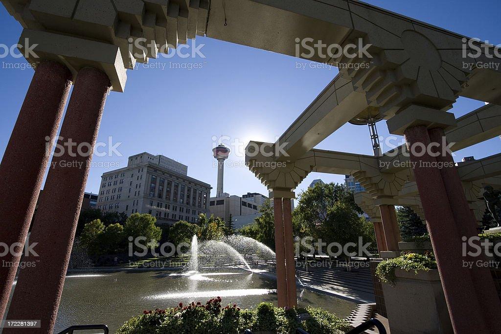 Olympic Plaza in Calgary royalty-free stock photo