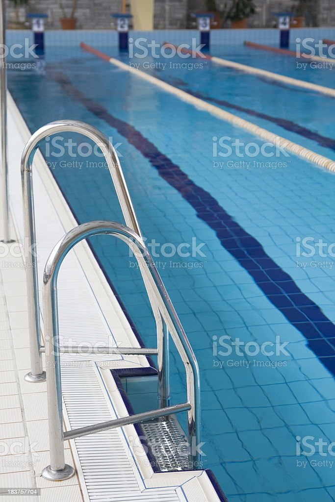 Olympic Pool with stair royalty-free stock photo