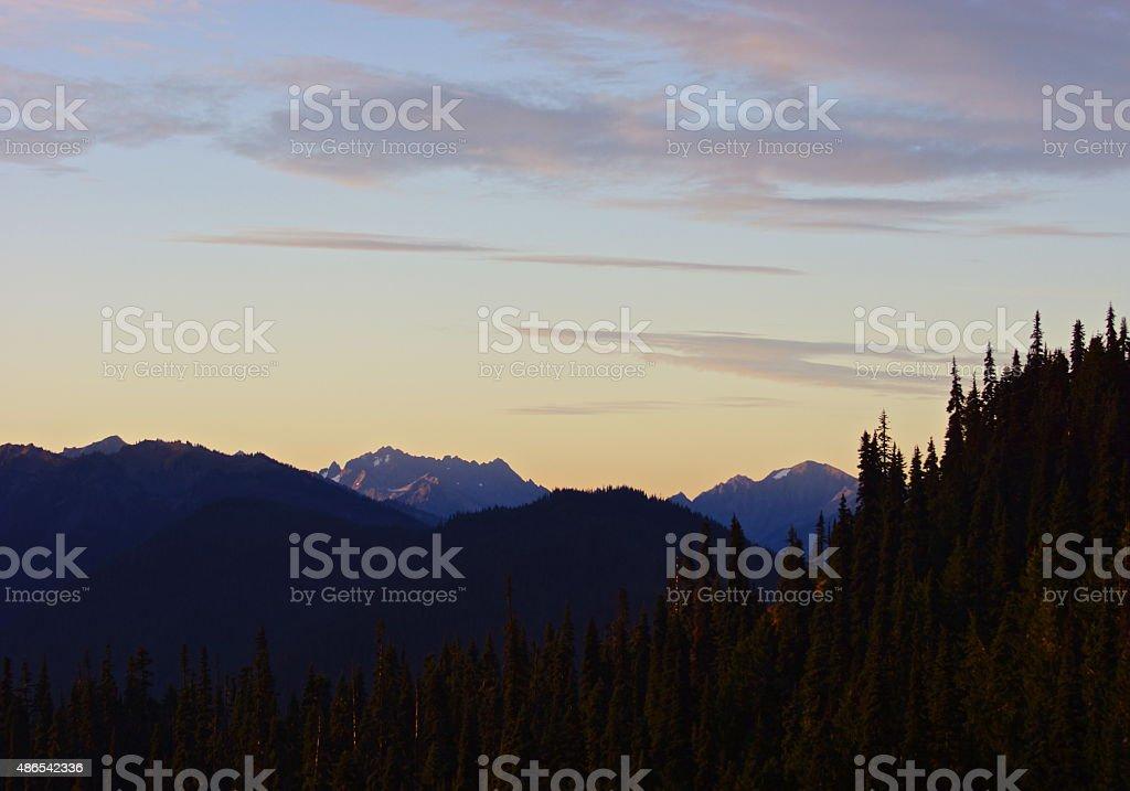 Olympic Range stock photo