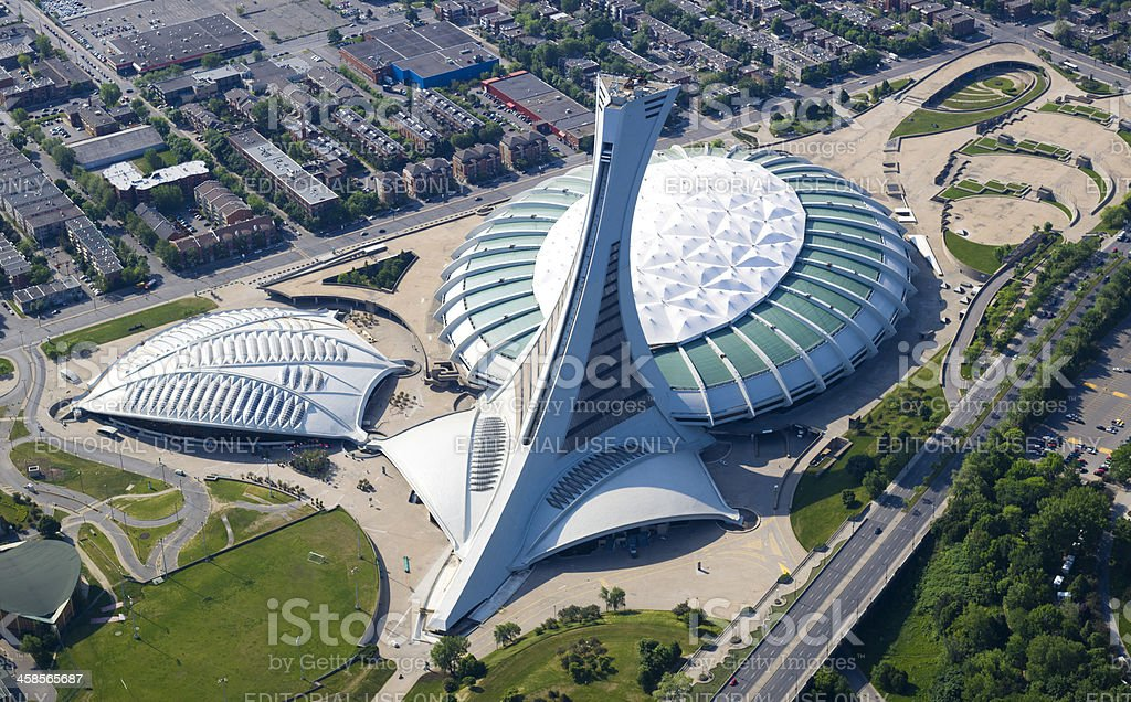 Olympic Stadium in Montreal stock photo