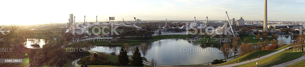 Olympic Stadium in Munich at sunset royalty-free stock photo
