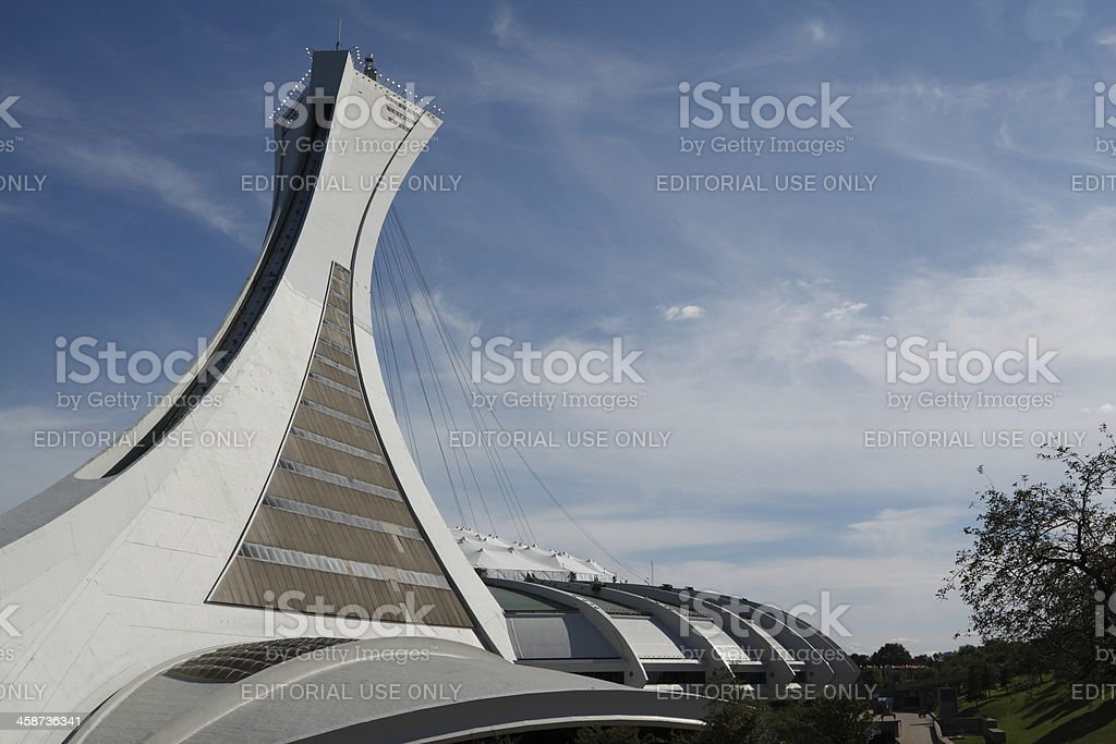 Olympic Stadium, Montrea stock photo