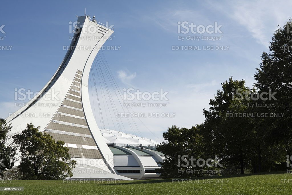 Olympic Stadium, Montreal stock photo