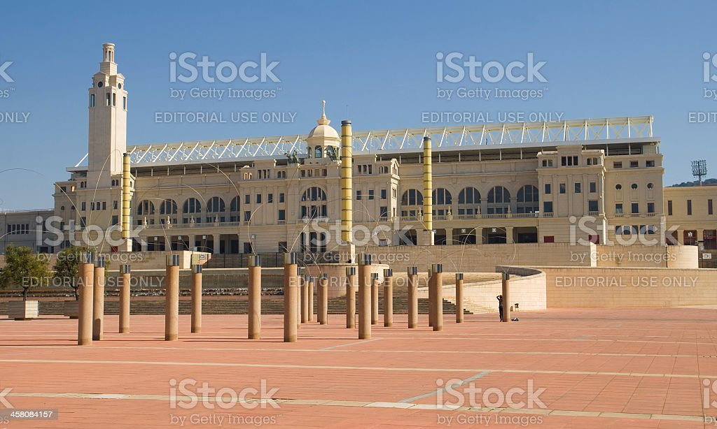 Olympic Stadium of Barcelona stock photo