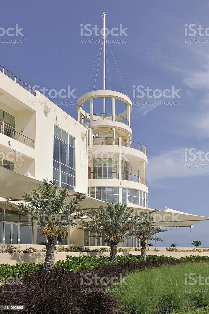 Olympic swimming pool and spa building stock photo