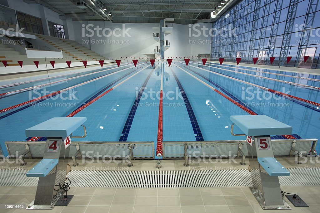 Olympic swimming pool stock photo