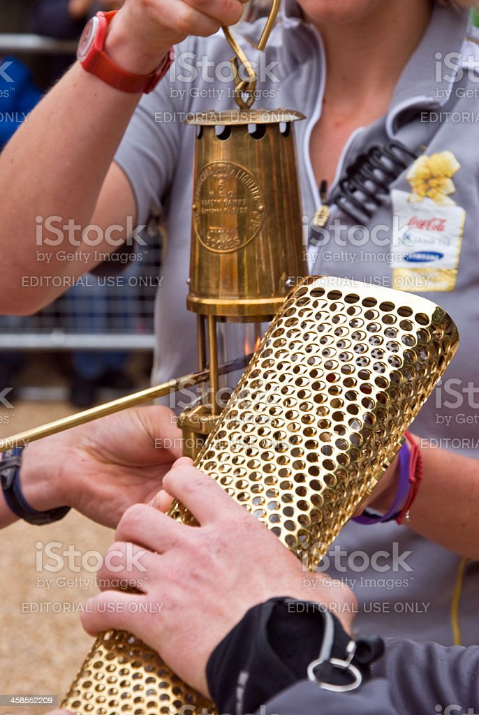 Olympic torch 2012 stock photo