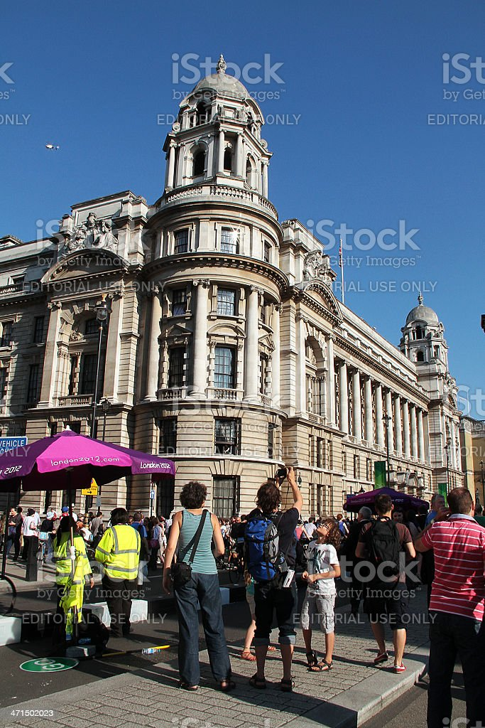 Olympic Torch Relay in Trafalgar Square, London royalty-free stock photo
