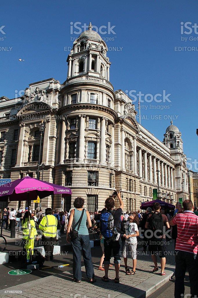 Olympic Torch Relay in Trafalgar Square, London stock photo