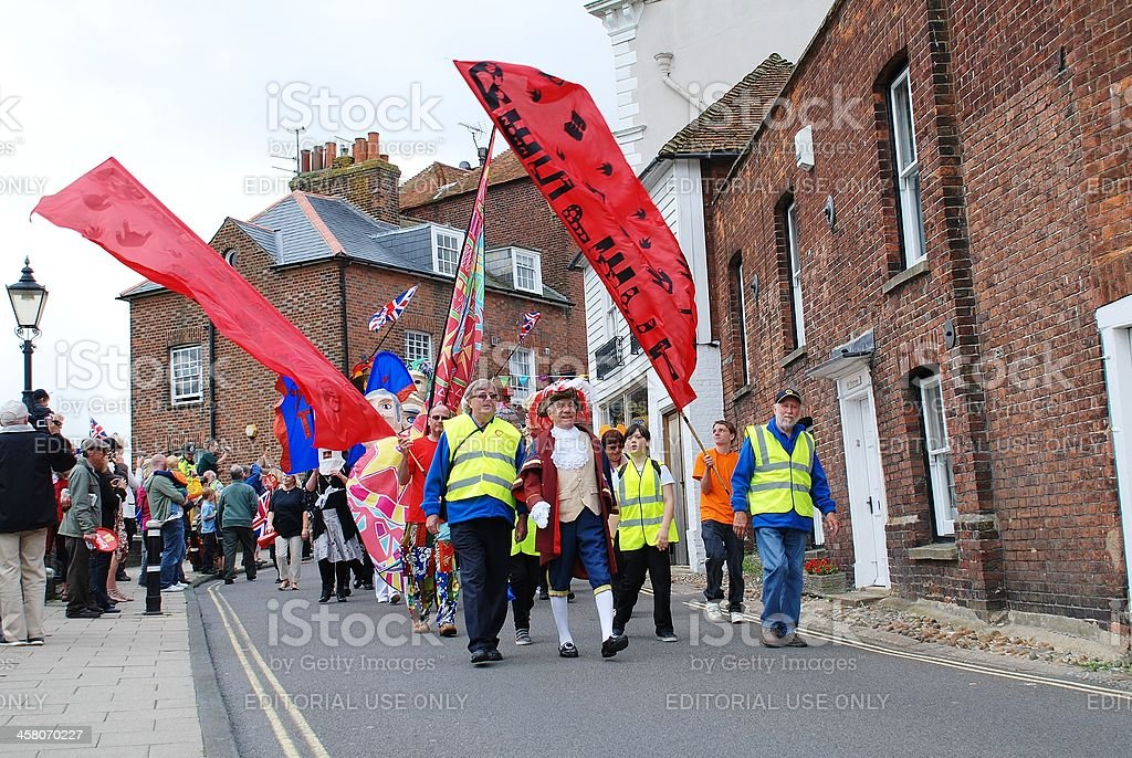 Olympic Torch Relay, Rye stock photo