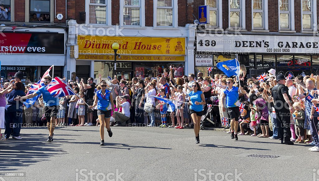 Olympic Torch Relay - Samsung flag-bearers stock photo