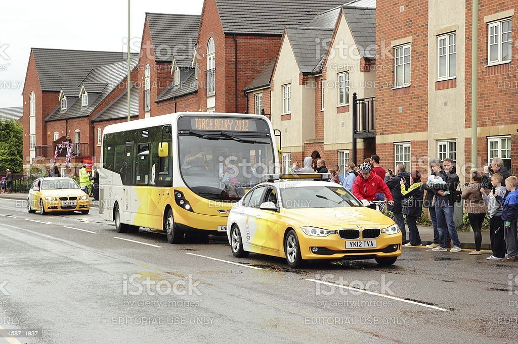Olympic Torch Relay Tour 2012 royalty-free stock photo