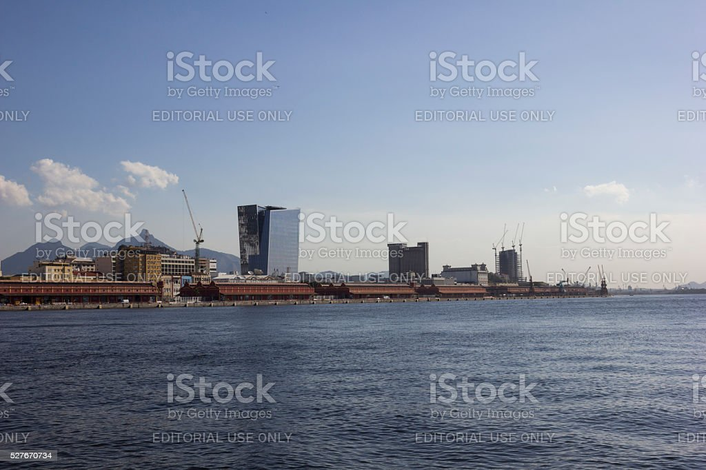 Olympic torch will stay in the port of Rio stock photo