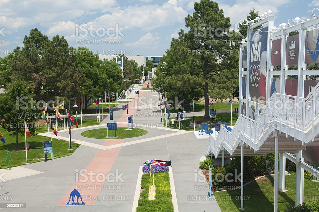 U.S. Olympic Training Center Grounds royalty-free stock photo