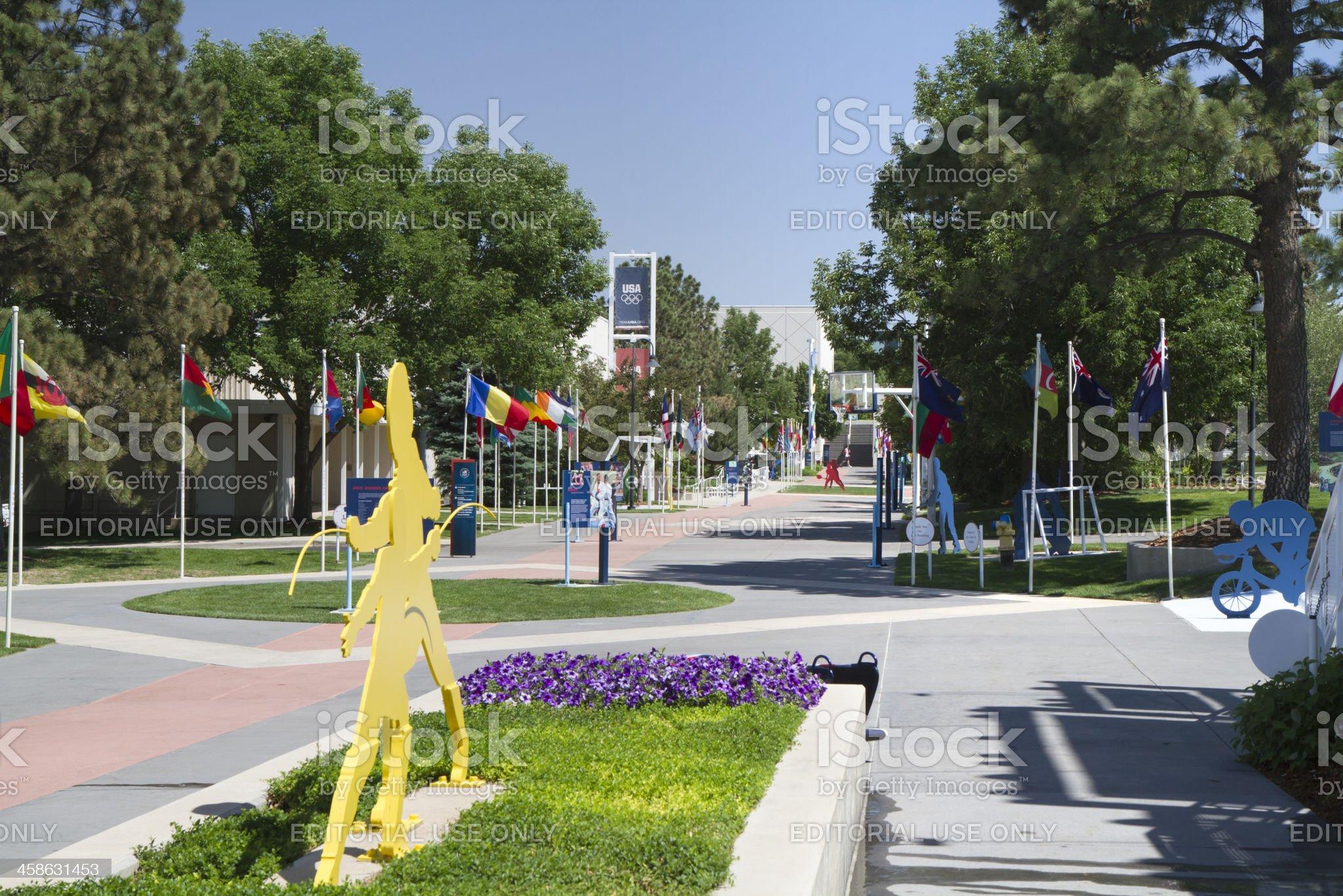 U.S. Olympic Training Center Grounds royalty-free stock photo