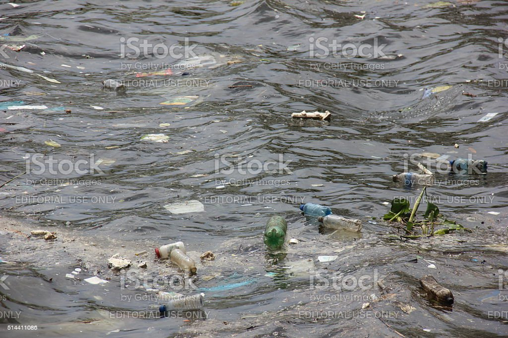 Olympic waters of the Guanabara Bay are rotten stock photo