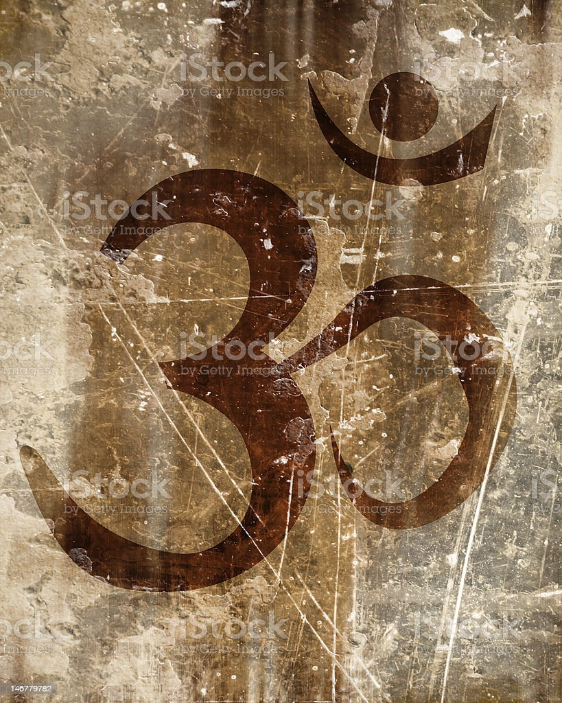 om aum sign stock photo
