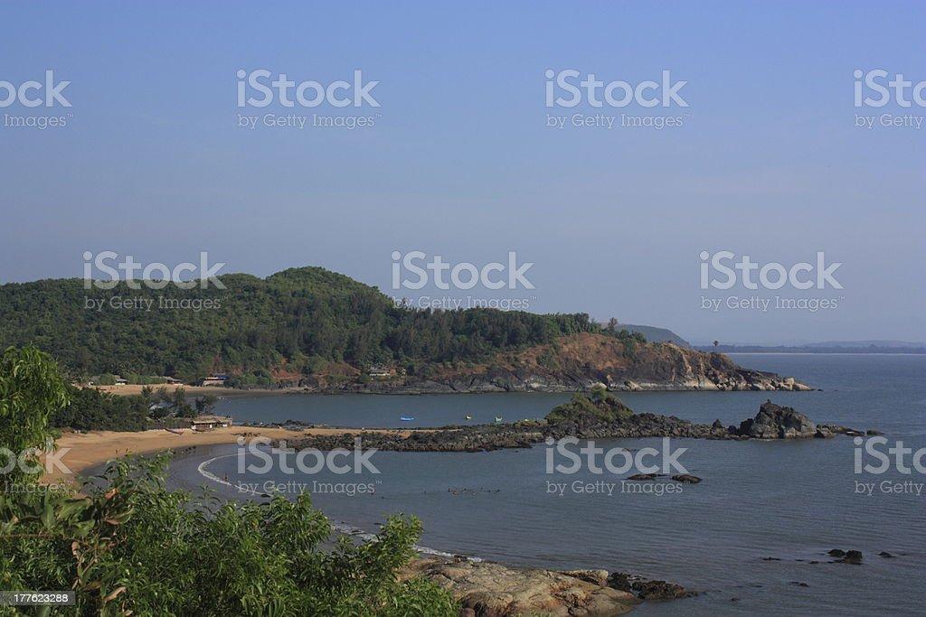 Om beach royalty-free stock photo