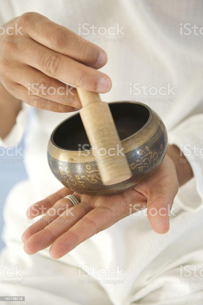 Om bowl royalty-free stock photo