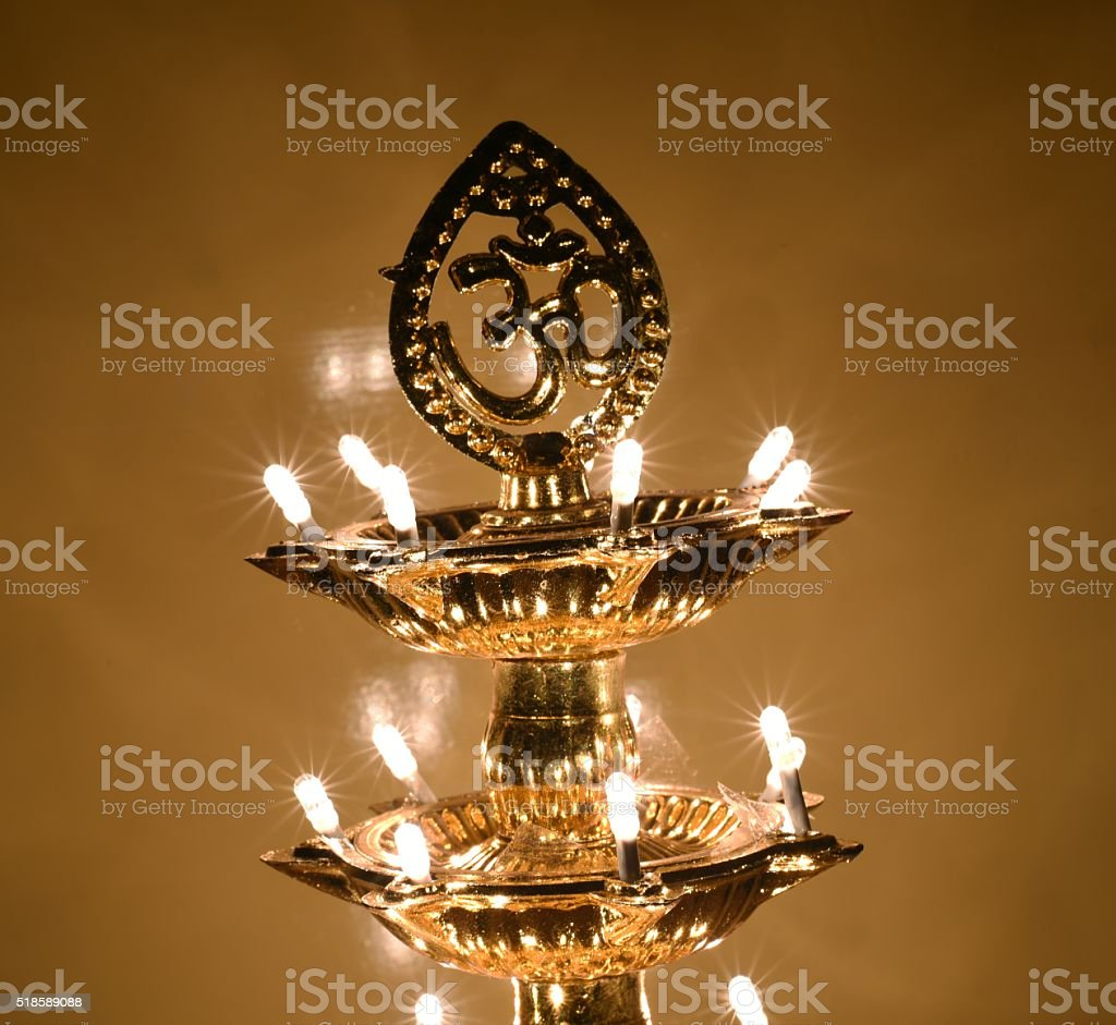Om Indian religious symbol stock photo