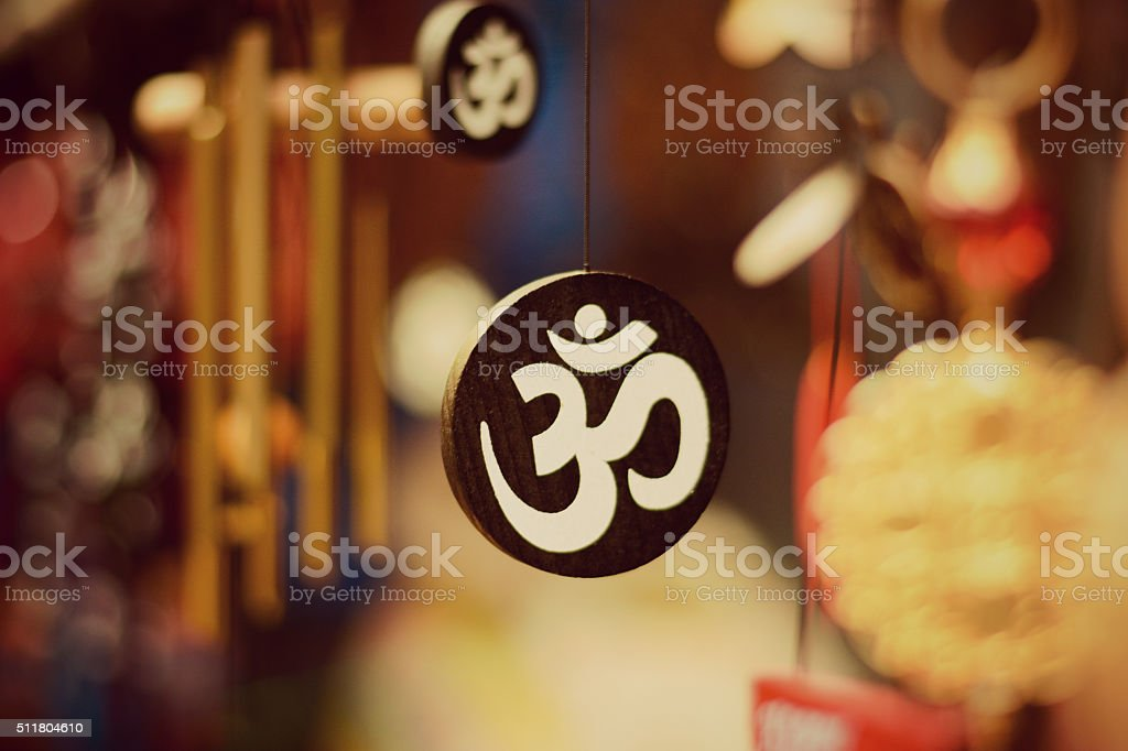 Om Symbol Locket - Yoga stock photo
