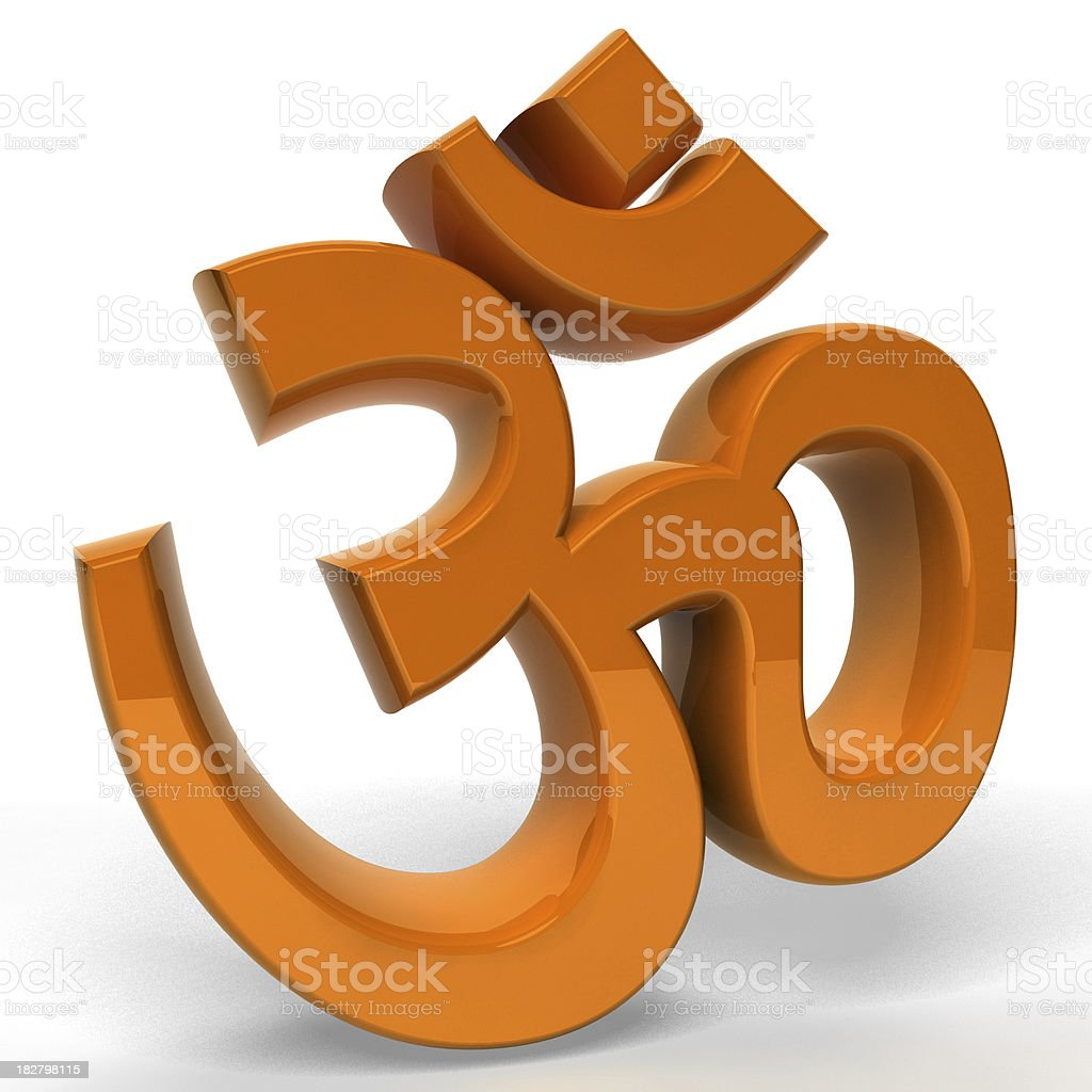 Om Symbol royalty-free stock photo