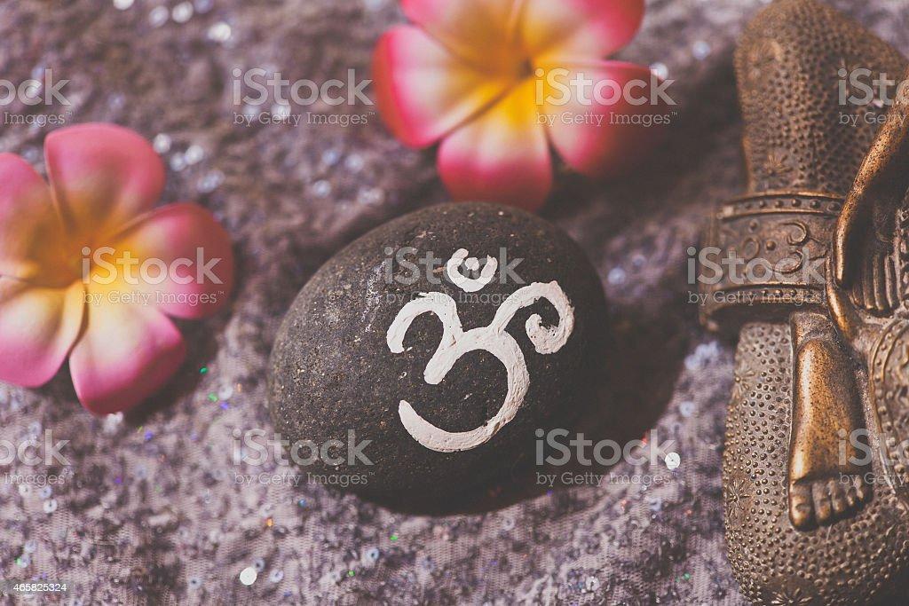 Om symbol stock photo