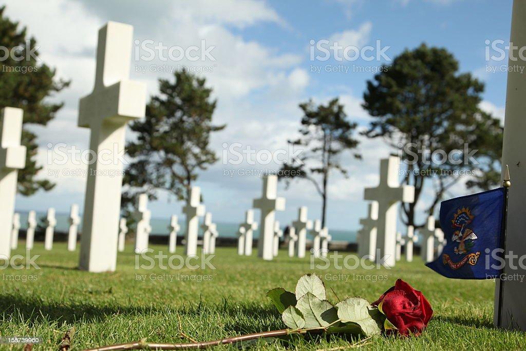 Omaha Beach Cemetery - Normandy stock photo