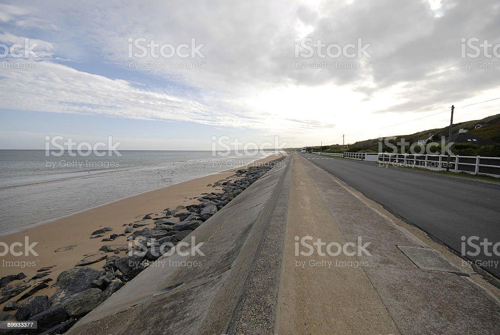 Omaha Beach coastline in Normandy royalty-free stock photo