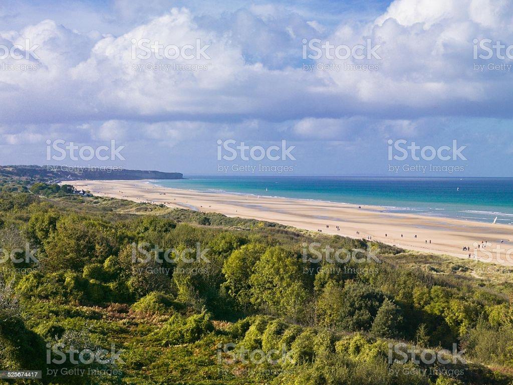 Omaha Beach, D-Day Beach, Normandy, France stock photo