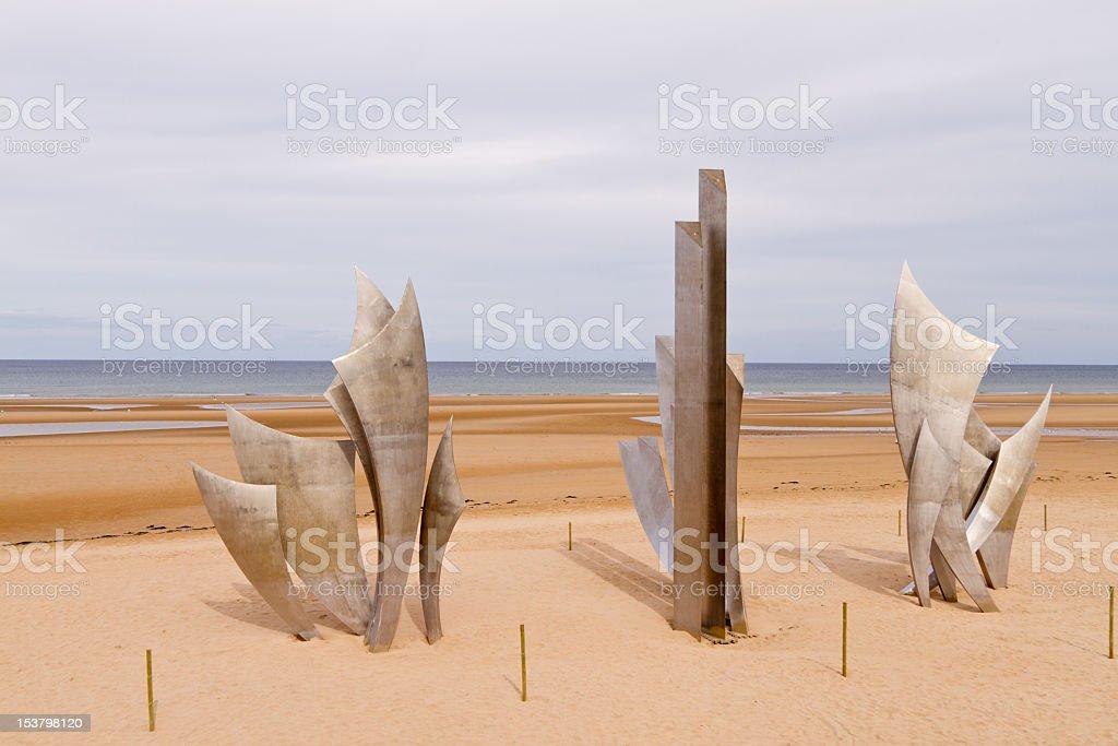 Omaha Beach D-Day Memorial stock photo
