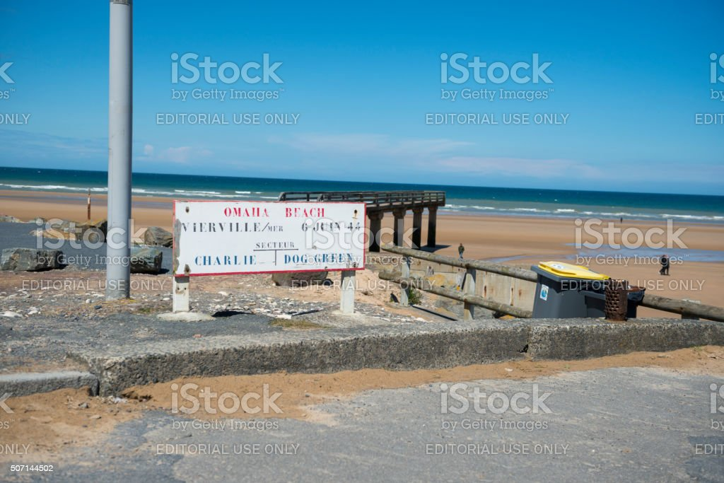 Omaha Beach in Normandy, France stock photo