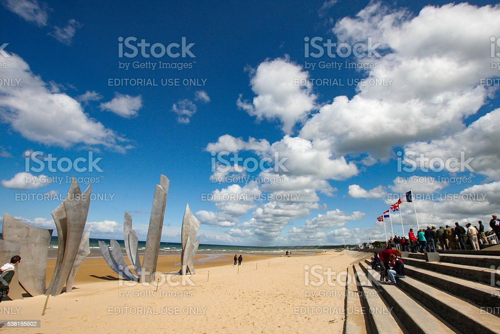 Omaha Beach Memorial stock photo