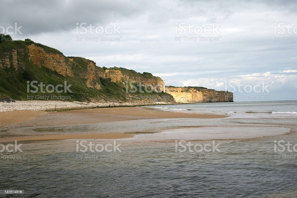 Omaha Beach, Normandy France stock photo
