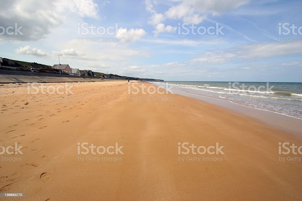 Omaha Beach - Normandy, France royalty-free stock photo