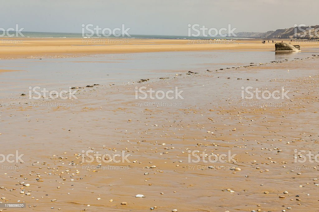 Omaha beach, - Normandy, France. royalty-free stock photo