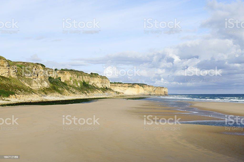 Omaha beach , Normandy, France stock photo