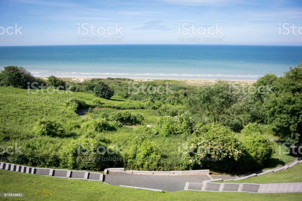 Omaha Beach, Normandy, France stock photo