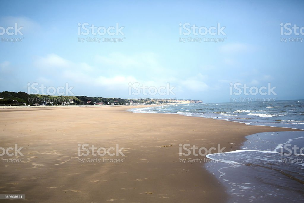 Omaha Beach stock photo