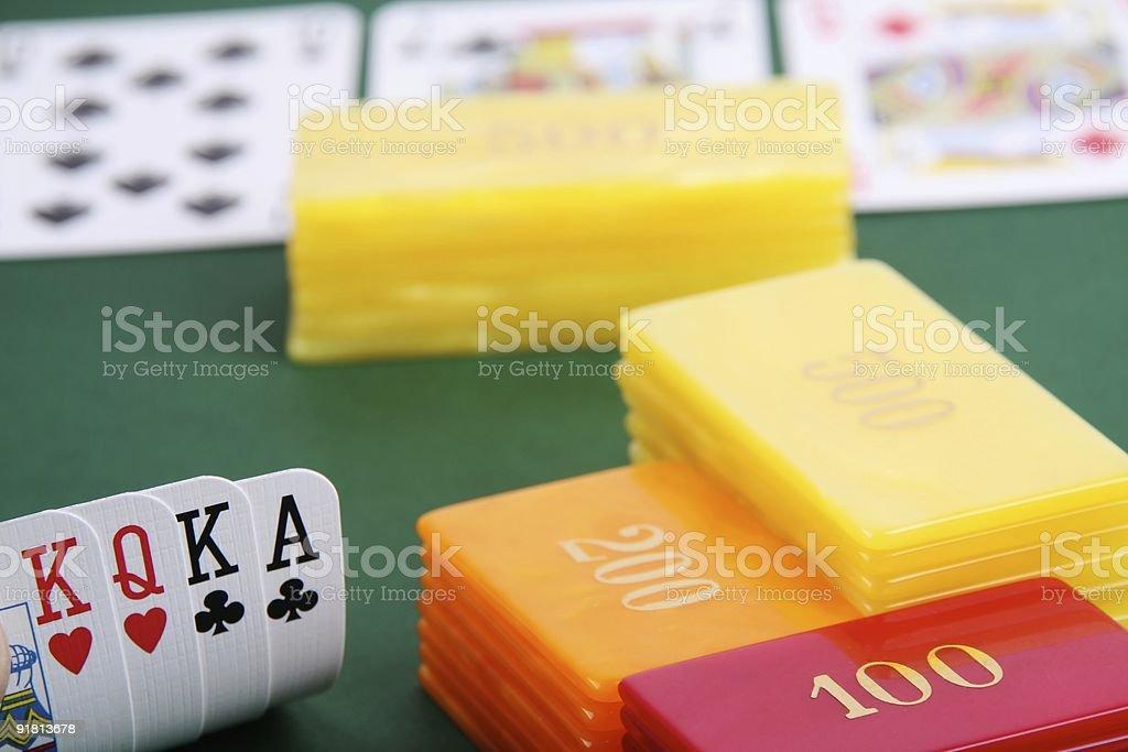 omaha hand high stakes stock photo
