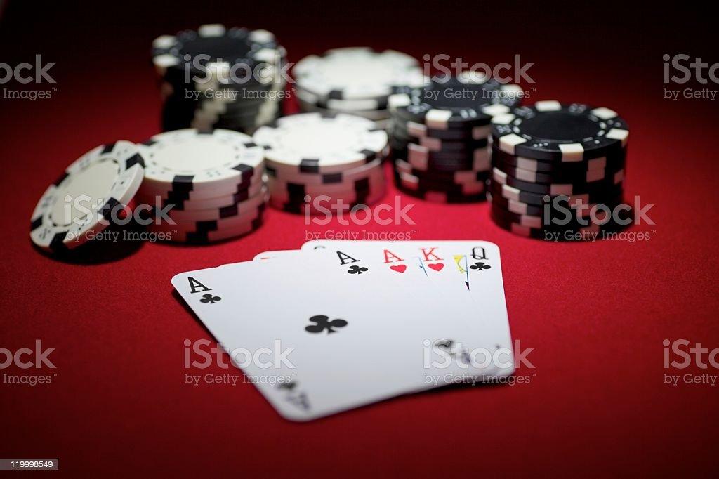 omaha poker starting hand stock photo