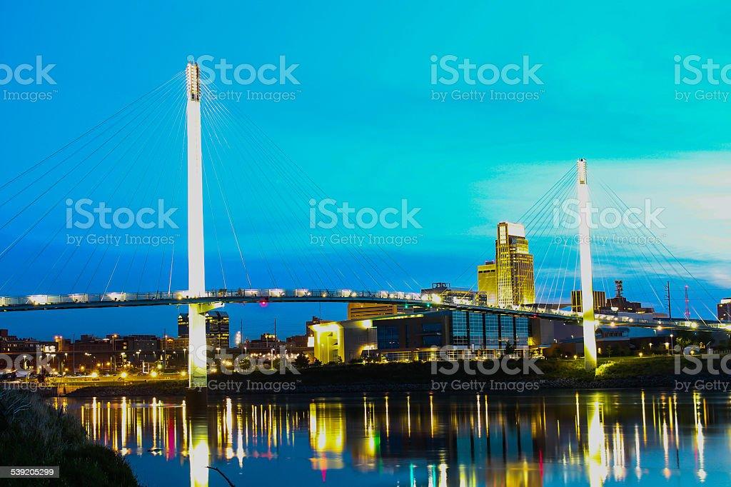 Omaha Sunset stock photo