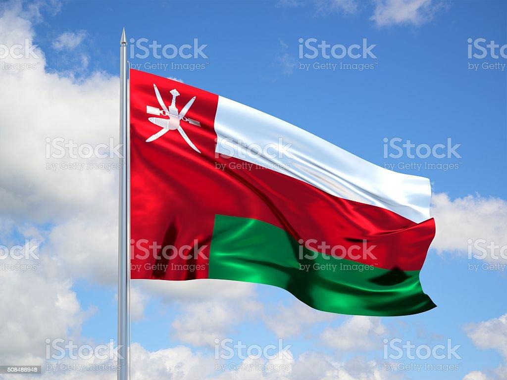Oman 3d flag stock photo