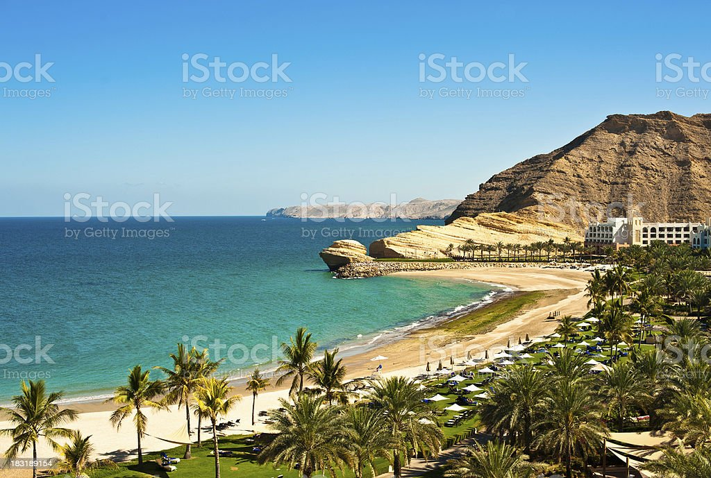 Oman coast landscape stock photo