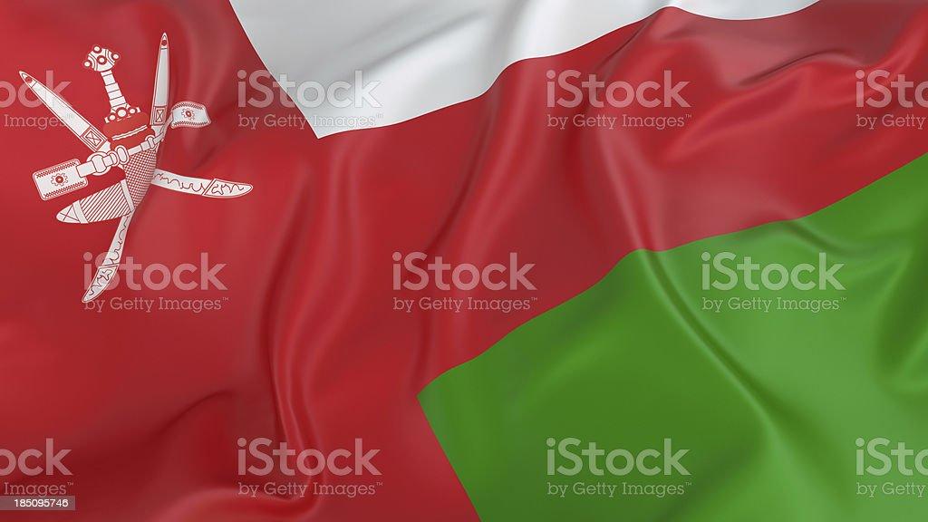 Oman Flag stock photo