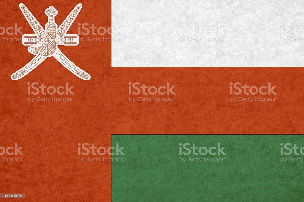 Oman flag royalty-free stock photo