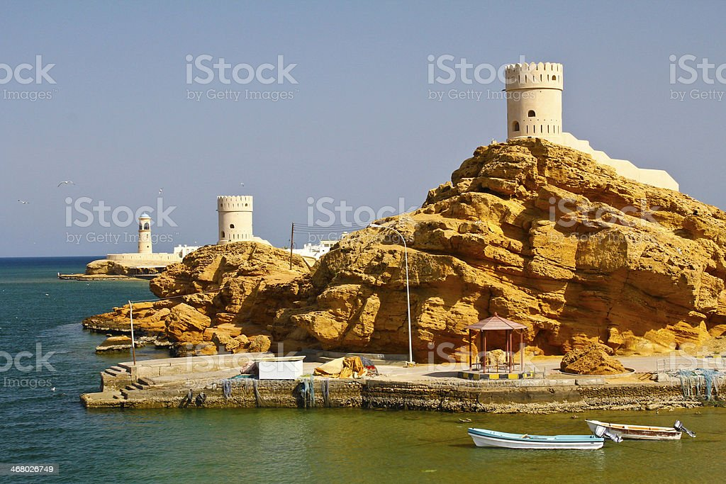 Oman: Lighthouse of Sur stock photo