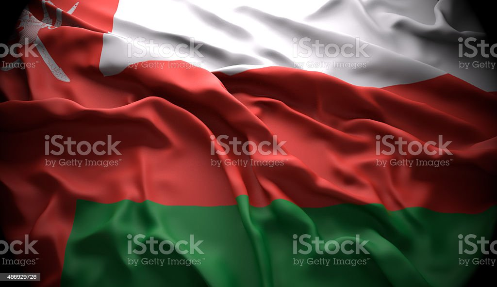 Oman, Muscat national official state flag stock photo